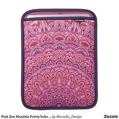 Pink Zen Mandala Pretty boho lace iPad Sleeve