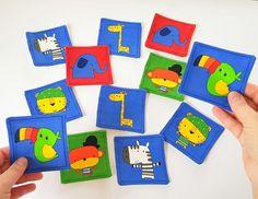 Items similar to Memory Game for Kids, Montessori Activity, Busy Bag for Travel on Etsy Jungle Theme Parties, Safari Party, Safari Theme, Giraffe, Elephant, Safari Decorations, Animal Bag, Fabric Cards, Memory Games For Kids