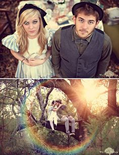Amazing Alice in Wonderland themed Engagement Shoots