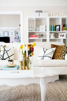 Take a Peek Into This Fashion Blogger's Girly Glam Apartment: Style Me Pretty takes you on a tour of the home of Julia Engel from Gal Meets Glam.