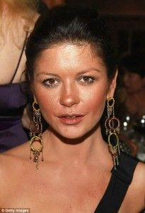 Catherine Zeta Jones – Bad make up? She is a Winter. Bronzers are a  warm colour and suit 1 in a million. If you want to highlight zits and spread your features use the wrong colours