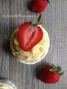 Cupcakes Facon fraisier