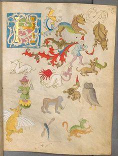 Stephan Schreiber's illuminated sketchbook (15th c)