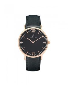 Kapten & Son Campina All Black Damen Uhr schwarz
