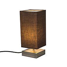 Tischleuchte Milo quadratisch braun - #Tischleuchte #Schreibtischlampe #Nachttischlampe #Lampe