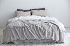 Smoke grey bed cover Double tab for more images. presented by Superior Custom Linens. Handmade Linen Bedding Baby Bedding and Home Decor. Baby Bedding, Duvet Bedding, Grey Bed Covers, Bed Duvet Covers, Bed Sets, Comforter Sets, Grey Duvet Set, Gray Bed, Neutral Bed Linen
