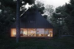 Villa, 3d Rendering, Muted Colors, Modern Architecture, Cabin, House Styles, Gallery, Building, Models