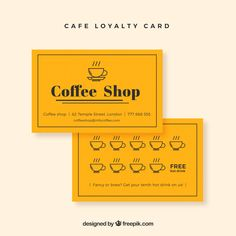 Cafe Loyalty Card Business Cards Loyalty Card Design Loyalty Pertaining To Loyalty Card Design Template - Professional Templates Ideas Loyalty Card Design, Loyalty Card Template, Id Card Template, Birthday Card Template, Free Business Card Templates, Business Plan Template, Business Card Design, Business Cards, Loyalty Cards