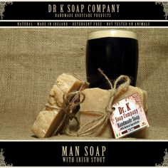Man Soap - love the presentation of this.  Soap made with Irish stout..