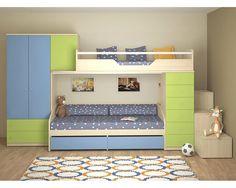 Dětská patrová postelová sestava-dětský pokoj NX-03-Next - Nábytek INTENA Bunk Beds Boys, Kids Bedroom, Kids Rooms, My Dream Home, Toddler Bed, Ikea, Table, House, Furniture