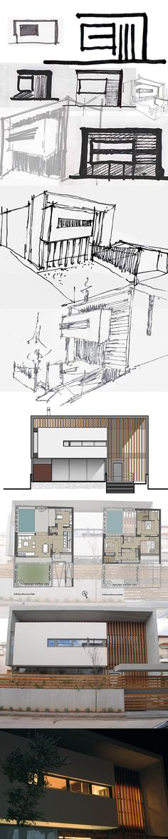 Residence / by architek design&construction # scetching - design process