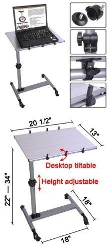 Wonderful Mobile Laptop Desk Tray Table Over Bed With Roller Light Wood By Mega  Brands. $76.95