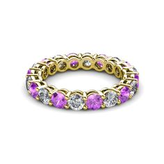 Your Personal Ejeweler...Perfect combination of Elegance and Beauty, this spectacular Eternity Band has Shared Prong set Amethyst and Diamond with side gallery design that exude sheer brilliance and is highly flattering on the hand. #Trijewels #Ejeweler #Eternity #Diamond #Amethyst #EternityRing #WeddingBand #EternityBand #Ring #WomensRing #Gift #Love #Wedding #Engagement #Womenjewelry #JewelryBuyers #AnniversaryRing #Wedding #YellowGold #WhiteGold #RoseGold #StackableRing #Gold #Stackable Wedding Engagement, Wedding Bands, Prong Set, Eternity Bands, Anniversary Rings, Amethyst, White Gold, Women Jewelry, Rose Gold