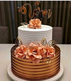 Elegant Birthday Cakes, 18th Birthday Cake, Beautiful Birthday Cakes, Elegant Wedding Cakes, Beautiful Cakes, Amazing Cakes, Birthday Cake Design, Cake Decorating Designs, Cake Designs