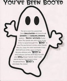 You've been booed! Fun neighborhood activity for Halloween.