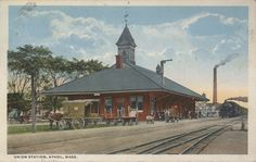 Athol. Train entering station.