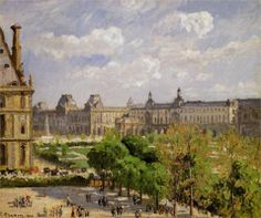 Camille Pissarro, Place du Carrousel, the Tuileries Gardens, 1900. National Gallery of Art, Washington, DC.