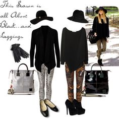 """""""A Season For Black And All Things Leggings"""" by lisbethusala on Polyvore"""