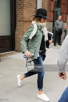 Jennifer Aniston seen out in Tribeca on October 14, 2015 in New York, New York.