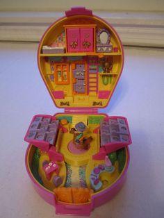 Polly Pocket Bluebird Pony Ridin' Show 1994 Pink Horseshoe Doll Pony No Sound #DollswithClothingAccessories