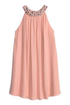 H&M - Beaded Dress - Powder pink - Ladies