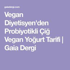 Vegan Diyetisyen'den Probiyotikli Çiğ Vegan Yoğurt Tarifi | Gaia Dergi Vegan Yogurt