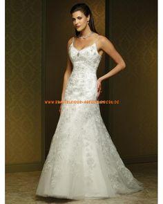 2013 Elegantes Brautkleid im Meerjungfrauenstil aus Tüll mit Applikation