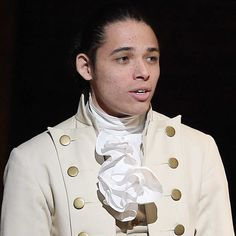 """NEW YORK, NY - FEBRUARY 15:  Anthony Ramos performs on stage during """"Hamilton"""" GRAMMY performance for The 58th GRAMMY Awards at Richard Rodgers Theater on February 15, 2016 in New York City.  (Photo by Theo Wargo/WireImage)"""