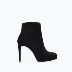 LEATHER PLATFORM BOOTIE-Ankle boots-Shoes-WOMAN | ZARA United States