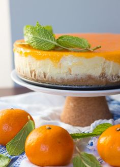 Clementine marscapone cheesecake.