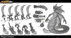 ArtStation - Hearthstone - Naga Corsair, rafael zanchetin