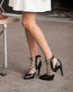 Leopard print Molinis, shoe accessory for high heels