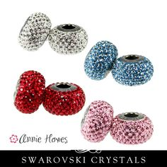 Swarovski BeCharmed Pave Beads from Annie Howes.