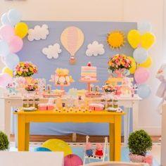 decoração clean festa peppa pig - Pesquisa Google