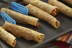 Taco seasoning mix and cauliflower come together in these oven-baked taquitos. Our Baked Cauliflower Taquitos are a spicy veggie appetizer that are sure to be a hit at your next gathering. Veggie Appetizers, Appetizer Dips, Appetizer Recipes, Baked Taquitos, Taquitos Recipe, Cauliflower Mashed Potatoes, Baked Cauliflower, Cauliflower Recipes, Tortillas