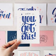 """Hey, you got this!"" 