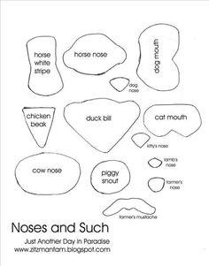 Fantoches - molde narizes e outros