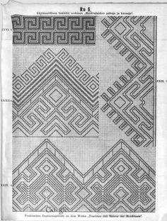 Käytännöllisiä lisälehtiä teokseen Mordvalaisten pukuja ja kuoseja - Praktische Ergänzungsblätter zu dem Werke Trachten und Muster der Mordvinen - (13 of 97) (No 6 of No 45)