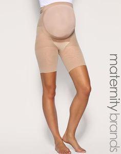 Ingrandisci Spanx Power - Mama - Pantaloncini contenitivi premaman a mezza coscia