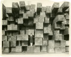 """Douglas Fir Timbers, """"Japanese Squares"""" - for shipment to Japan, date unknown. Western Wood Products Association Photograph Collection, Org Lot 208"""