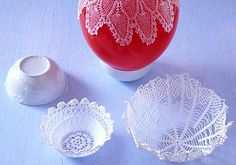 Lace bowls. It's in German but pictures are enough!