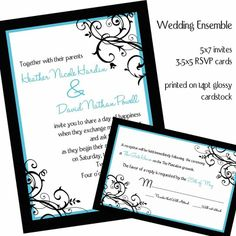 Wedding Invitations and RSVP card