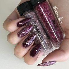 Magpie Glitter Mix, Anastasia & India #glitternails #glitter #nails #gelnails #blueskynails