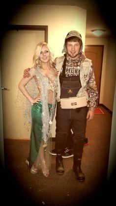 Fisherman caught his mermaid! Halloween couples costume