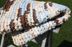 gorgeous crocheted rag rugs-I have one in almost every room...