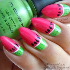 Have you ever given it a thought to paint your nails in a crazy way? Well here's an idea that will blow your mind! Check out these awesome watermelon themed painted nails, created by women from all over the world. What do you say, ladies?