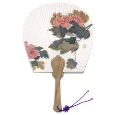 fan019a Shop Fans, Hand Held Fan, National Museum, Wooden Handles, Peonies, Arts And Crafts, Flowers, Handmade, Painting