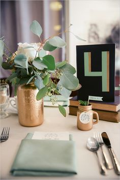Love these colors! modern vintage table decor @weddingchicks
