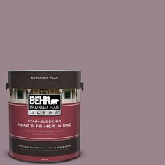 BEHR Premium Plus Ultra Home Decorators Collection 1-gal. #hdc-CL-05 Orchard Plum Flat Exterior Paint