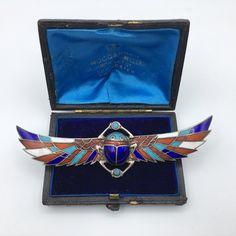 Egyptian Beetle, Vintage Shops, Bright Colors, Solid Gold, Bracelet Watch, Wings, Enamel, Brooch, Shoulder Bag